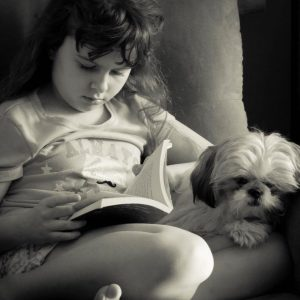 reading with pup